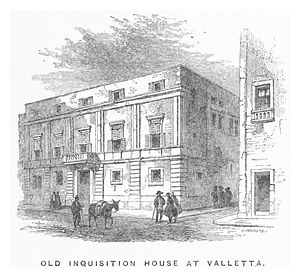 Inquisitor's Palace - An 1861 engraving of the palace