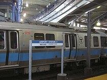 MBTA Blue Line train at Airport station, 2009.jpg