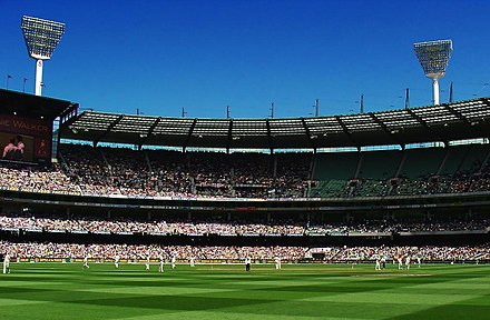 Boxing Day Test at the Melbourne Cricket Ground, 2006 MCG stands.jpg