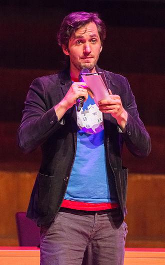 Lieven Scheire - Scheire on stage at the Wikimania 2014