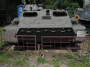 MT-LB armored personnel carrier at the Muzeum Polskiej Techniki Wojskowej in Warsaw (2).jpg