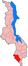 Location of Chikwawa District in Malawi