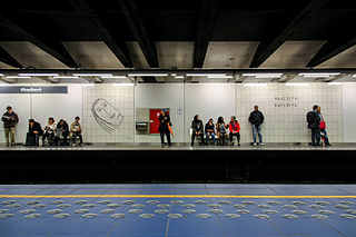 metro station in Brussels, Belgium
