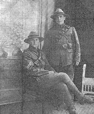 Henry Dewar (rugby) - D. Stewart Macfarlane and Henry Dewar (standing), photographed in Egypt.