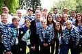 Macri y atletas juveniles olímpicos de Argentina 2.jpg