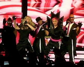 Hard Candy (Madonna album) - Madonna and her dancers, performing during the Hard Candy Promo Tour in May 2008.
