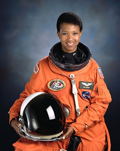 Mission Specialist Mae Jemison, a physician and chemical engineer, served on the Space Shuttle Endeavour (STS-47)