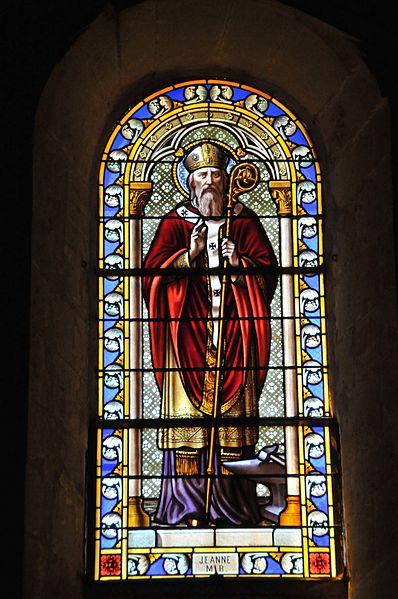 Maillane, eines der Kirchenfenster