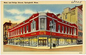 Kmart - 1940s postcard of Kresge store in Springfield, Massachusetts