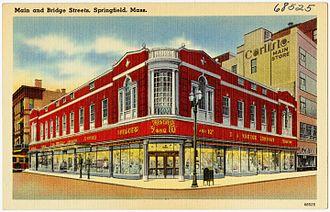 Kmart - 1940s postcard of Kresge store in Springfield, Massachusetts