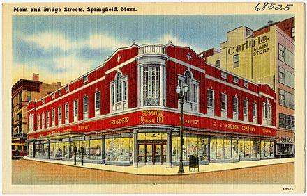b9d27f5c22d87 1940s postcard of Kresge store in Springfield