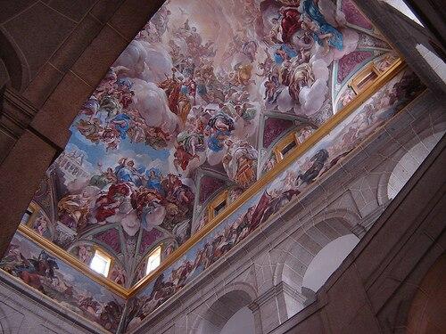 Main staircase of the Monastery of San Lorenzo de El Escorial