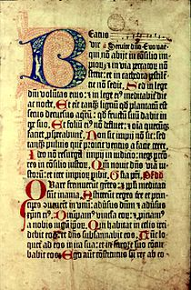 <i>Mainz Psalter</i> Second major book printed with movable type in the West