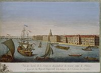 Makhayev, Kachalov - View of Neva Downstream between Winter Palace and Academy of Sciences 1753 (right).jpg
