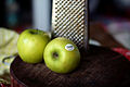Making apple pancakes, apples and grater (4802368447).jpg