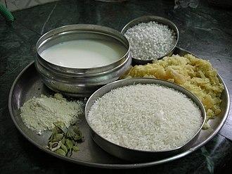 Kheer - Ingredients for kheer