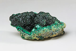 Malachite carbonate mineral