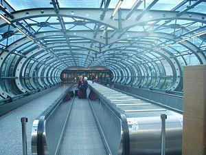 Malpensa Express - Passageway between the terminal and the railway station at Malpensa Airport