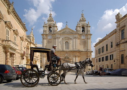 Malta, Mdina, St. Paul's cathedral