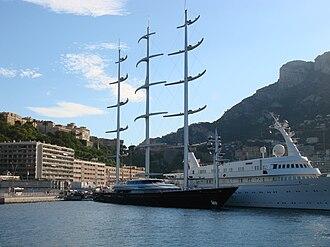 Perini Navi - Image: Maltese Falcon moored