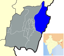 Location of Ukhrul district in Manipur