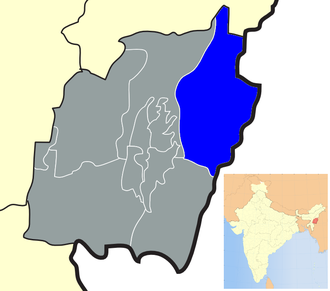 Ukhrul district - Location of Ukhrul district in Manipur