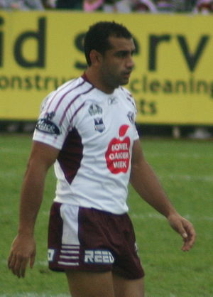 Nick Bradley-Qalilawa - Nick Bradley-Qalilawa in action for the Manly Sea Eagles