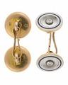 Manschettknappar av guld med pärlemor och briljanter, 1900-tal - Hallwylska museet - 110550.tif