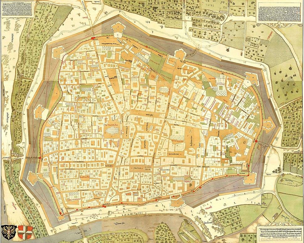 Map Vienna 1547