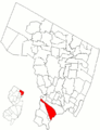 Map of Bergen County highlighting East Rutherford.png