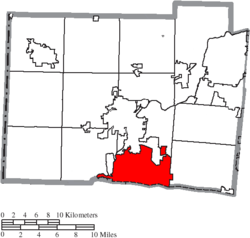 Location of Fairfield in Butler County