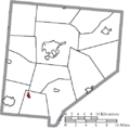 Map of Clinton County Ohio Highlighting Midland Village.png