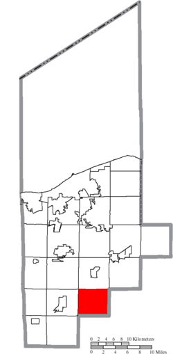 Location of Penfield Township in Lorain County