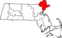Map of Massachusetts highlighting Essex County.svg