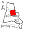 Map of Montour County, Pennsylvania Highlighting Derry Township.PNG