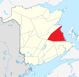 Map of New Brunswick highlighting Kent County.png