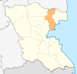 Pomorie Municipality - Image: Map of Pomorie municipality (Burgas Province)