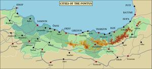 Samsun deportations - Map of the Pontus region