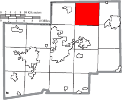 Location of Marlboro Township in Stark County