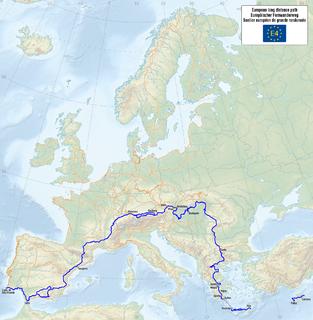 E4 European long distance path Walking path