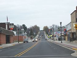 Downtown Marathon City on Wisconsin Highway 107