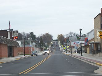 Marathon City, Wisconsin - Downtown Marathon City on Wisconsin Highway 107