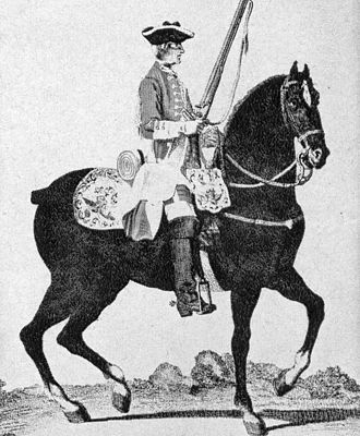 Peregrine Lascelles - Dragoon, ca 1740; Lascelles served in similar units from 1718 to 1743