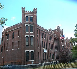Union Grounds - The Marcy Avenue Armory now occupies the southern half of the site of the Union Grounds.