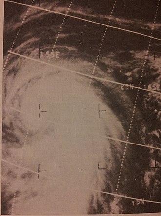 1966 Pacific typhoon season - Image: Marie Nov 119660252z ESSA3
