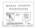 Marin County Courthouse, Fourth Street between A and Court Streets, San Rafael, Marin County, CA HABS CAL,21-SANRA,2- (sheet 1 of 8).png