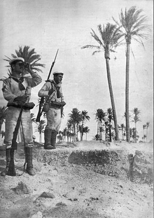 1st San Marco Regiment - Italian marines in Tripoli in 1911
