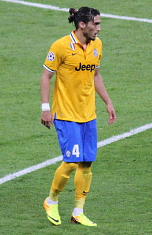 Martín Cáceres, Real Madrid vs Juventus, 24 October 2013 Champions League.JPG