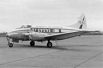 Martinair - Martin's Air Charter de Havilland Dove in the early 1960s