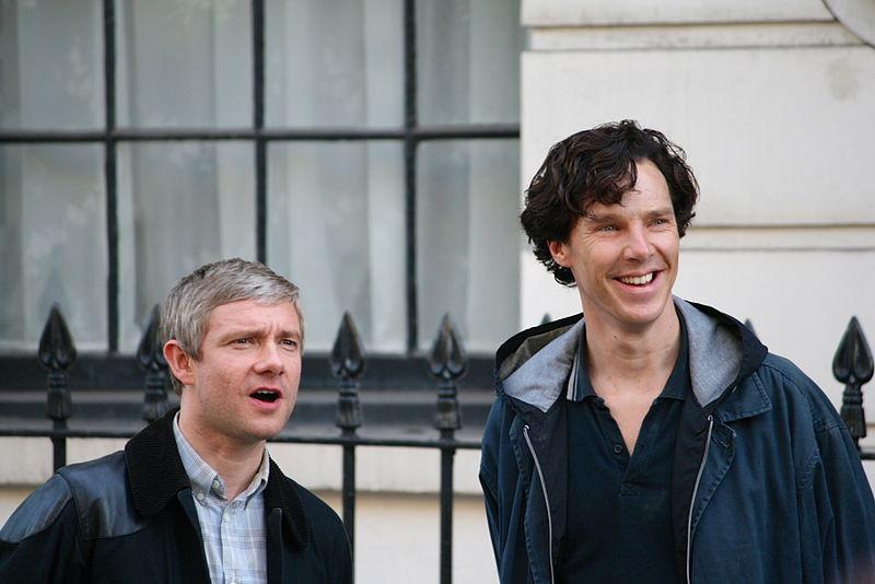 File:Martin Freeman + Benedict Cumberbatch.JPG